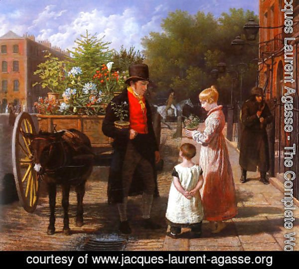 Jacques Laurent Agasse - The Flower Seller 2