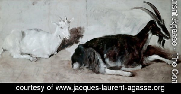 Jacques Laurent Agasse - Two Goats
