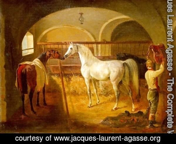 Jacques Laurent Agasse - Stallinneres (Inside the Stable)