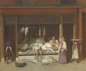 Jacques Laurent Agasse - A fishmonger's shop