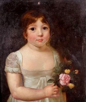 Jacques Laurent Agasse - Portrait Of A Young Girl