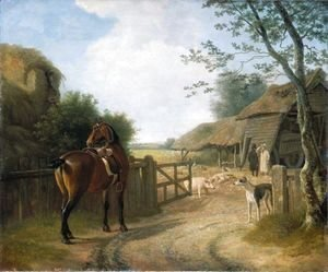 Jacques Laurent Agasse - Daniel Beale At His Farm In Edmonton With His Favourite Horse