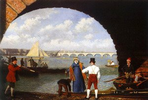 Jacques Laurent Agasse - Landing At Westminster Bridge