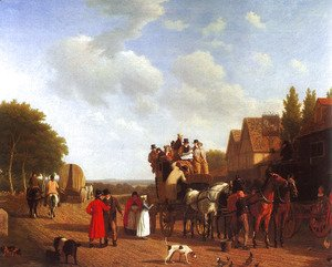 Jacques Laurent Agasse - The Last Stage On The Portsmouth Road