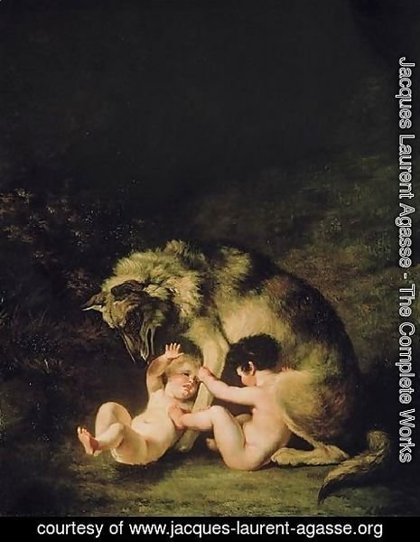 Jacques Laurent Agasse - Romulus Remus And Their Nursemaid
